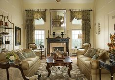 Make cozy living room design for your minimalist home. Here we provide some tips to decor your formal living room interior. Make sure you got cozy living room Tall Window Treatments, Window Treatments Living Room, Living Room Windows, Formal Living Rooms, Living Room Interior, Window Coverings, Living Room Decor Traditional, Traditional Interior, Traditional Decorating