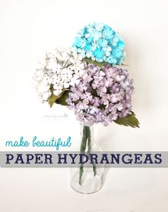 DIY Paper Hydrangeas @sizzix_us @savedbyloves