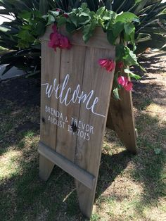 Welcome wedding sandwich board by FromKellyWithLove on Etsy