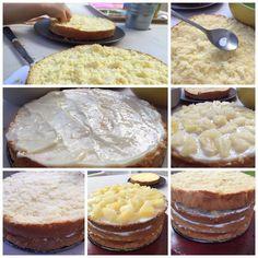 Receta familiar de la mejor torta de piña.Una buena torta de pina tiene que estar bien humectada y perfumada.