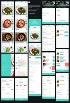 Caterit UI Kit is your interface kit to create your next prototype or apps for Food Ordering. All 16 screens are compatible with Photoshop, and editable. Layers are well-organized, carefully named and grouped. Web Design, App Ui Design, Dashboard Design, Flat Design, Icon Design, Catering Delivery, Delivery App, Delivery Food, Android App Design
