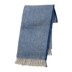 Made of pure new wool, the throw is soft and cushiony to the touch and long lasting.
