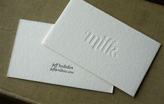 Simple, elegant and understated #design for the #BusinessCard of SF based #App developers @Milkman Amok. Love it.