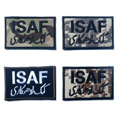 ISAF, International Security Assistance Force Military Patch / Morale Patch Hook & Loop 3D Embroidery Badge Army Badge 8*5cm #Affiliate
