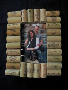 Wine Cork Picture Frame idea for the wine lover
