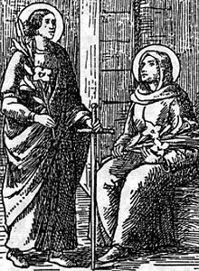Saints Alodia and Nunilo pray for us and abuse victims and runaways.  Feast day October 22.