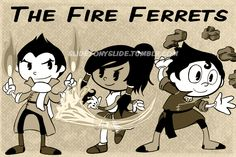 The Fire Ferrets by fighterkirby12.deviantart.com on @DeviantArt
