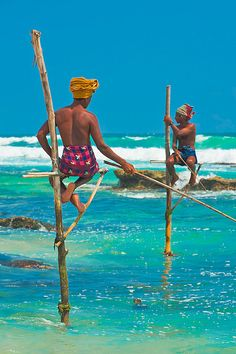 Stilt Fishing . Sri Lanka