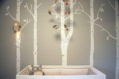 Nursery with Tree Wall Decal,