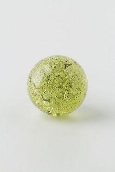 Mini Bubbled Glass Knob anthropologie.com