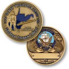 U s Navy USS West Virginia SSBN 736 USN Challenge Coin | eBay