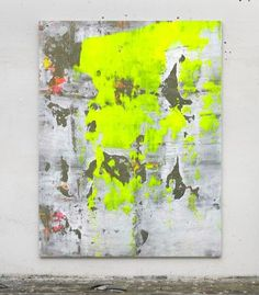 neon yellow grey gray concrete white huge by studioARTificial