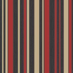 Designer 70cm Vinyl Wallpaper - Striped Authority (Red / Black