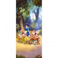 Decoration, Painting, Parfait, 7 Dwarfs, Snow White, Female Dwarf, Murals, Snow White Disney, Wall Art