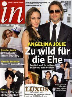 Angelina Jolie, Brad Pitt - in Magazine Cover [Germany] (24 November 2011)