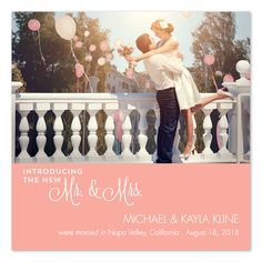 The Newlyweds - photo wedding announcement / holiday card