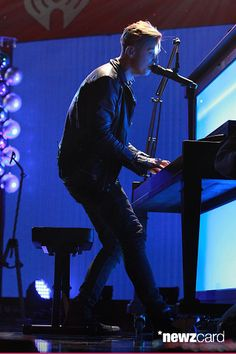 Ryan Tedder of OneRepublic  performs onstage during iHeartRadio Jingle Ball 2014, hosted by Z100 New York and presented by Goldfish Puffs at Madison Square Garden on December 12, 2014 in New York City.  (Photo by Kevin Kane/Getty Images for iHeartMedia)