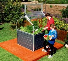 Raised bed, greenhouse and storage all in one!