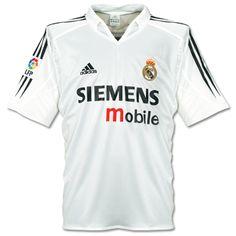 88908d7ba3a 04-05 Real Madrid Retro Home Soccer Jersey Shirt Cheap Football Shirts,  Soccer Shirts