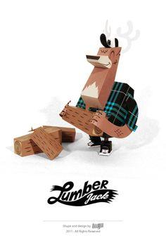 LumberJack | Designer: Guillaume Pain (aka TOUGUI) - http://www.tougui.fr/papertoy.html