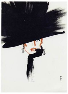 shu84: René Gruau Fashion Illustrations