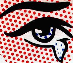 #dotsandstripes eye by roy lichtenstein