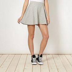 H! by Henry Holland Designer grey spotted skater skirt- at Debenhams.ie