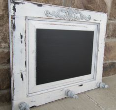 Repurposed cabinet door shabby chic vintage