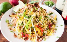 Sweet and Spicy - Thai Mango Salad - Little Kitchen. Big World Thai Recipes, Asian Recipes, Healthy Recipes, Thai Mango Salad, I Love Food, Good Food, Different Salads, Stuffed Sweet Peppers, Sweet And Spicy