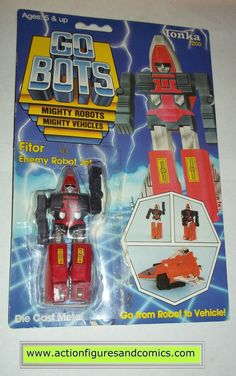 vintage Tonka / Ban-Dai toys action figures GO BOTS / MACHINE ROBO 1983 FITOR condition: Overall nice displayable condition as showcased in photos. Figure has been opened from the right side of the bu