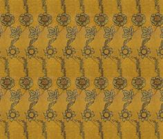 Late Victorian book cover fabric by unseen_gallery_fabrics on Spoonflower - custom fabric