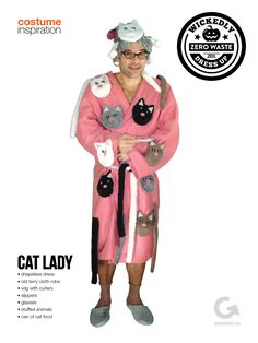 Goodwill DIY Halloween Costume Inspiration - Cat Lady #Halloween #Thrift #DIY #Costume #CatLady