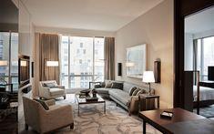 Park Hyatt New York / Yabu Pushelberg Master Bedroom Interior, Living Room Interior, Design Bedroom, Apartment Interior, Living Room Trends, Living Area, Hotel Interiors, Hotel Suites, Interior Design