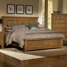 Vaughan Bassett Reflections King Storage Bed with Mansion Headboard - Sheely's Furniture & Appliance - Platform or Low Profile Bed Ohio, You...