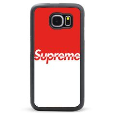 36962eb8536d3 Supreme Red White Samsung Galaxy S6 Case