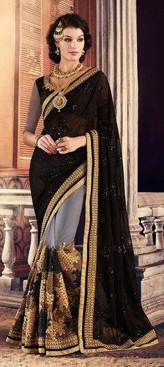 Suhaag full hindi movie amitabh bachchan shashi kapoor 195023 black and grey color family embroidered sarees party wear sarees in faux georgette altavistaventures Gallery