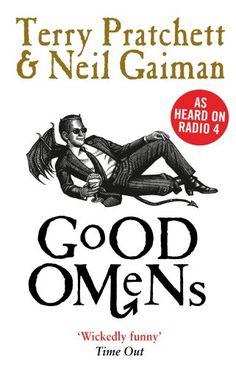 Good Omens by Neil Gaiman http://www.amazon.co.uk/dp/0552171891/ref=cm_sw_r_pi_dp_ovnMwb0TAK09X