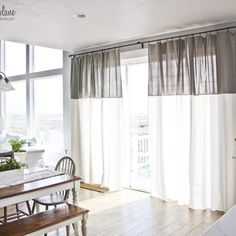 DIY Two Toned Curtains