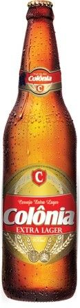 Cerveja Colônia Extra Lager, estilo Premium American Lager, produzida por INAB - Indústria Nacional de Bebidas, Brasil. 5% ABV de álcool.