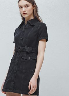 Denim shirt dress - Dresses for Women | MANGO USA