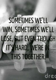 Even when it's hard, we're in this together. We can make anything work!