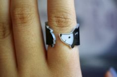 wrap-around shrinky dink ring – great idea!  //  Adorable Hedgehog Wraparound Ring by greenmot on Etsy