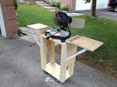 A Mobile Miter Saw Stand Diy Table Mitre