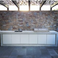 Repost- white #concretebenchtop / outdoor kitchen for @elk_landscape ... It's…