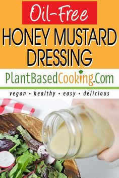 Just the right amount of sweet and tangy without added oil this homemade dressing is easy-to-make with only 7 ingredients. All plant-based goodness. Oil Free Salad Dressing, Dressing Recipe, Homemade Dressing, Ranch Dressing, Healthy Grains, Healthy Foods To Eat, Plant Based Diet, Plant Based Recipes, Whole Food Recipes