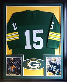 c05c9affc1c Bart Starr Framed Jersey Signed Mounted Memories COA Autographed Green Bay  Packers