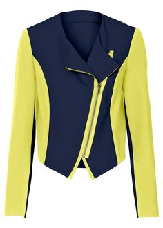 £: Blazer, BODYFLIRT - blu scuro/giallo neon