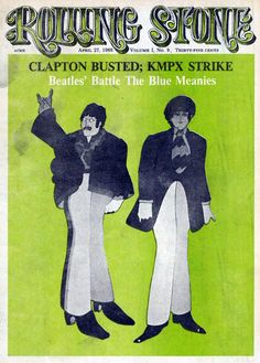 The Beatles illustrated on the cover of Rolling Stone,April 1968.