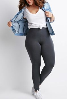Plus Size Classic Leggings | Forever 21 PLUS - 2000183529
