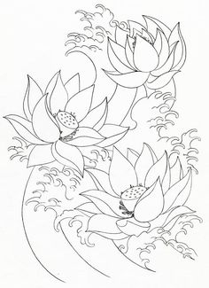 Lotus Flower, : Lotus Flower Painting Coloring Page